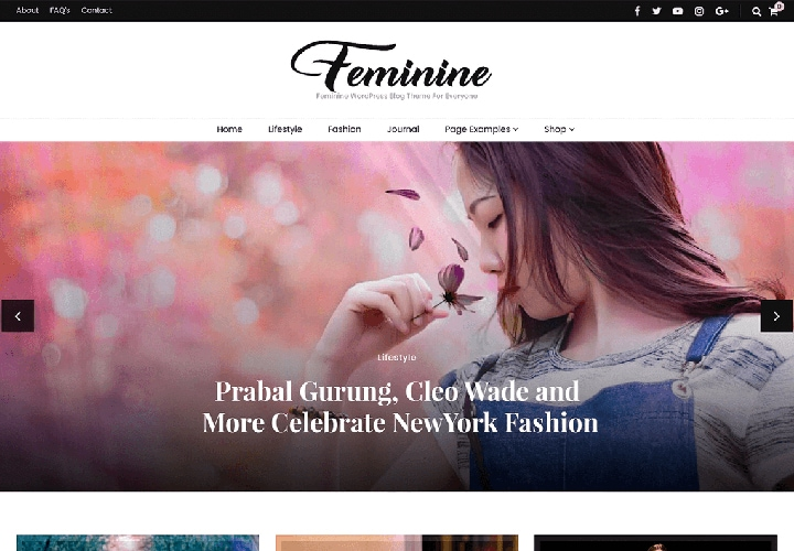Blossom Feminine - Tema WordPress para Blogs Atraentes, Portfólio e Mais