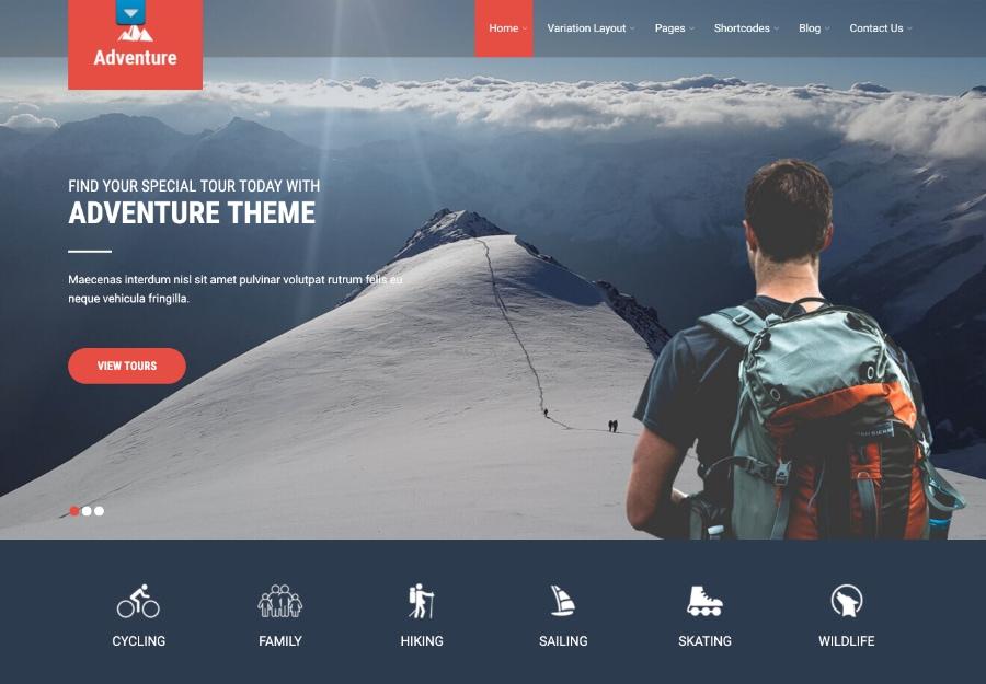 Adventure Lite - Tema WordPress para Estilo de Vida e Aventuras