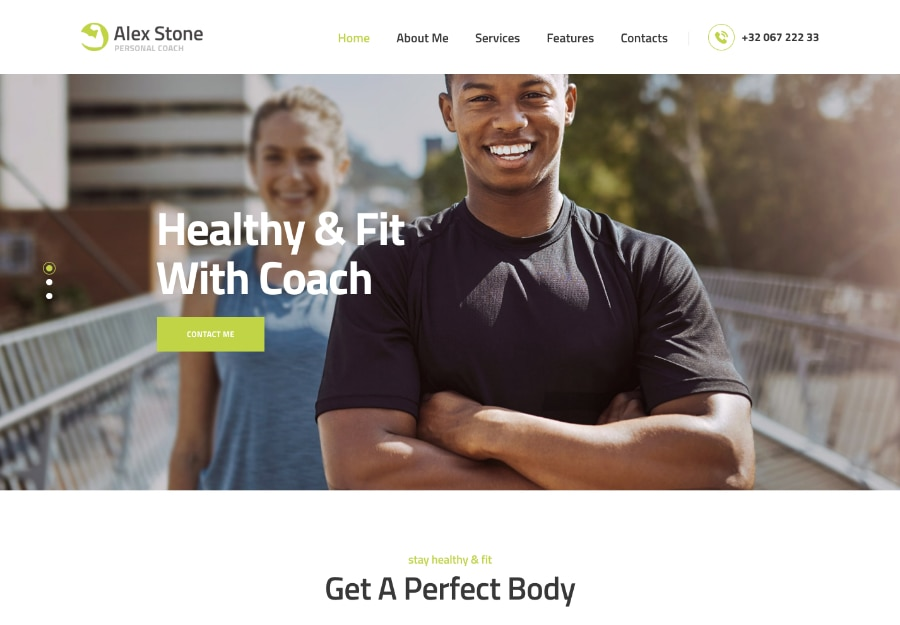 Alex Stone - Tema WordPress para Personal Trainer