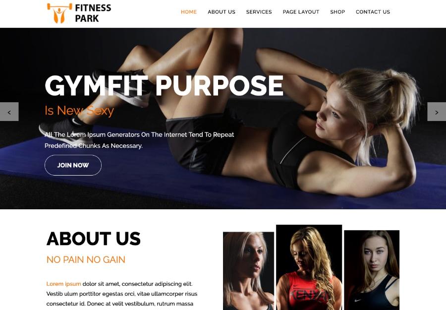 Fitness Park - Tema WordPress para Ginastica e Esportes