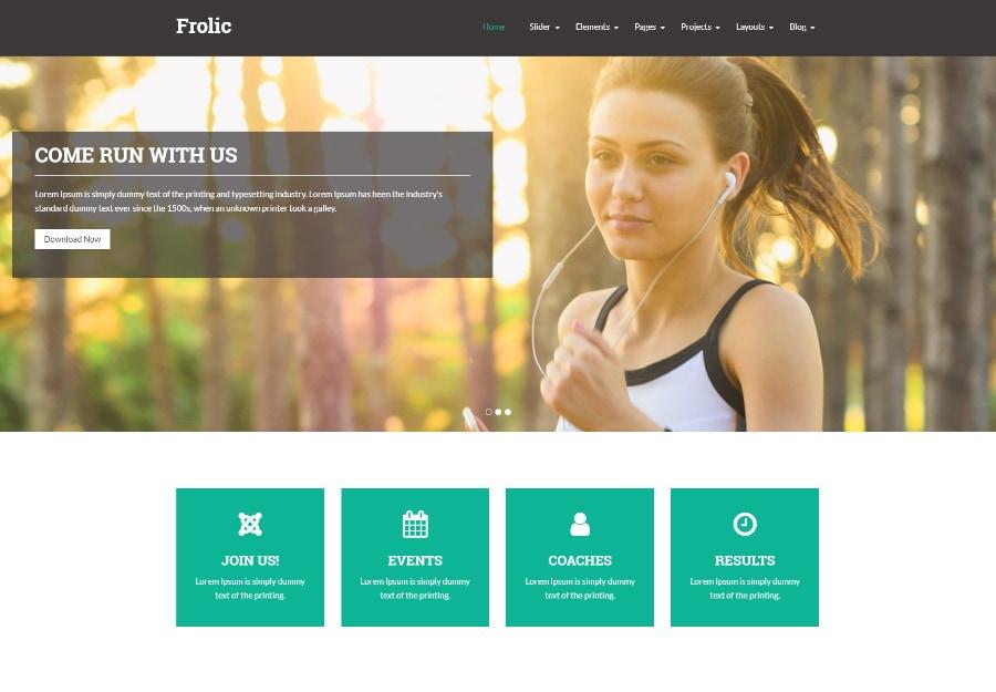 Frolic - Tema WordPress para Academia, Yoga e Ginastica