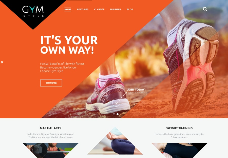 GYM - Tema WordPress para Club Fitness e Esportes
