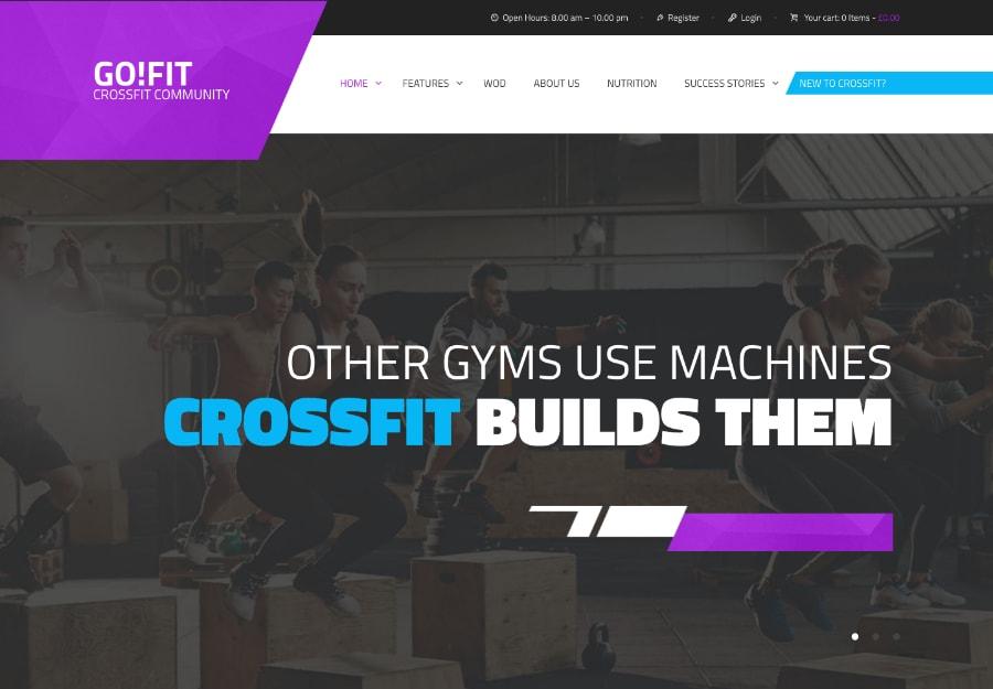 GoFit! - Tema WordPress para Academia, Ginástica e Crossfit