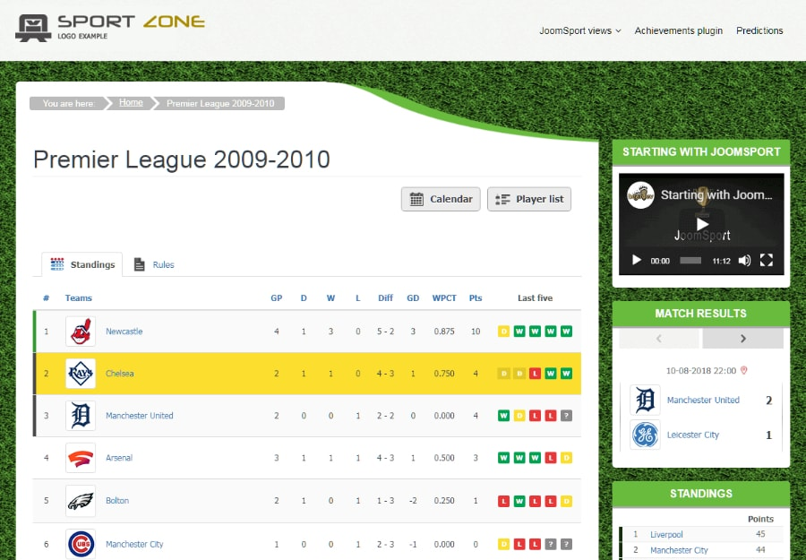Kodiak - Tema WordPress para Futebol e Esportes
