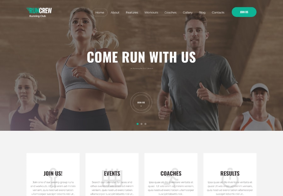 RunCrew - Tema WordPress de Corrida, Maratona e Sports