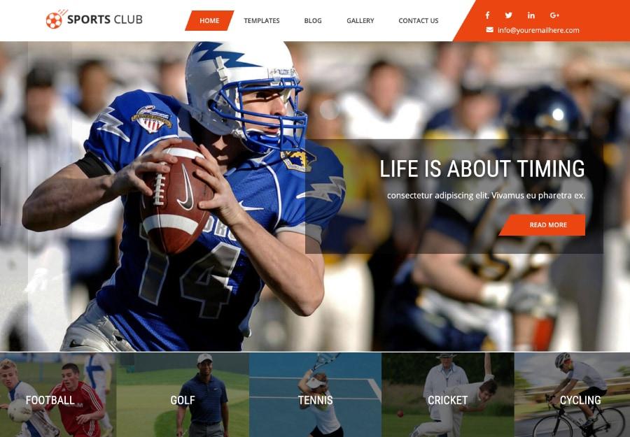 Sports Club Lite - Tema WordPress para Futebol e Esportes em Geral