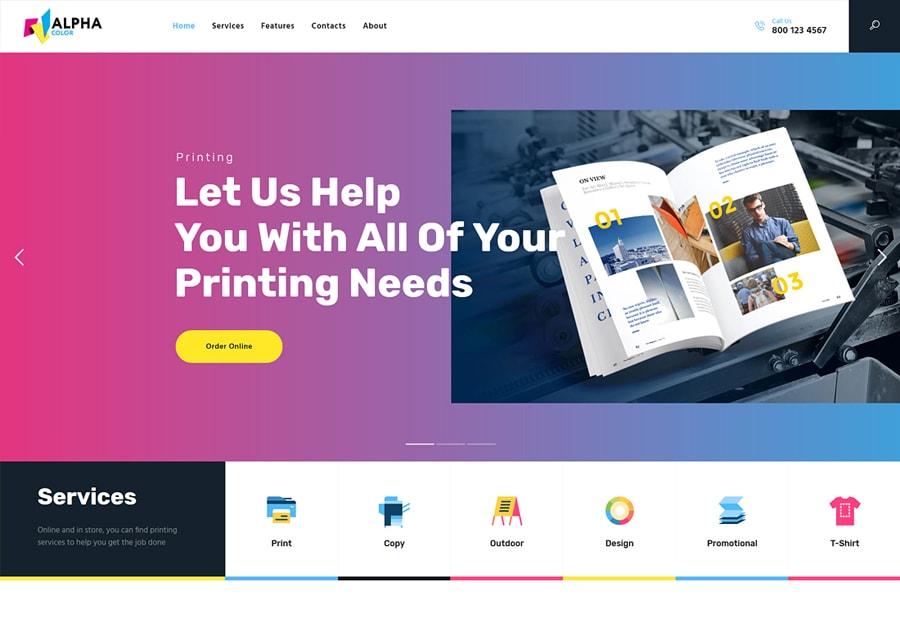 AlphaColor - Tema WordPress para Agências de Tipografia