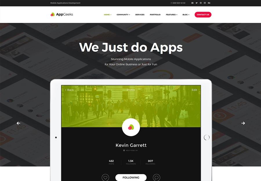 AppGeeks | Tema WordPress para Agências Criativas