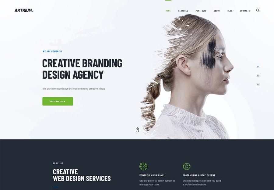 Artrium - Tema WordPress para Agência Digital