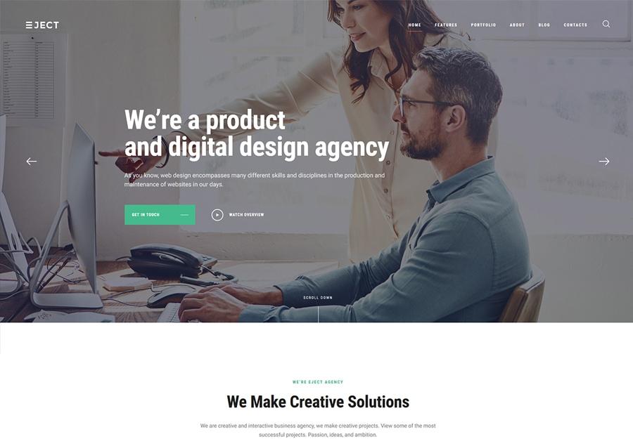 Eject - Tema WordPress Agência Digital e Marketing