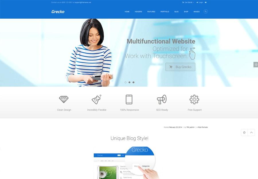 Grecko - Tema WordPress Multipropósito