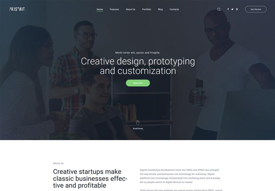 ProStart - Tema WordPress para Startup e Corporações