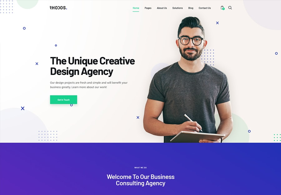Rhodos - Tema WordPress Multipropósito para Negócios e Portfólio