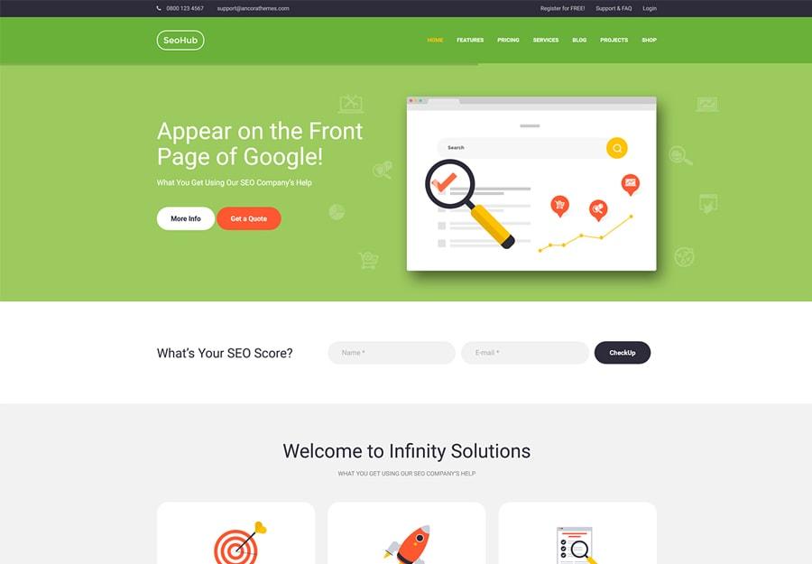 SEOHub - Tema WordPress Colorido para SEO e Marketing