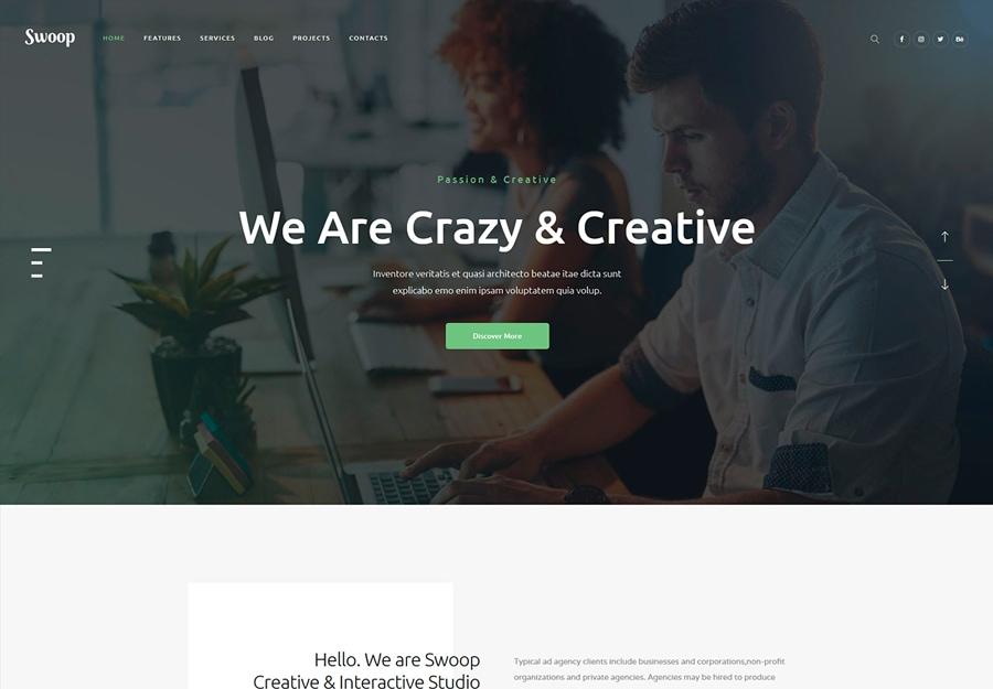 Swoop - Tema WordPress para Agências Criativas