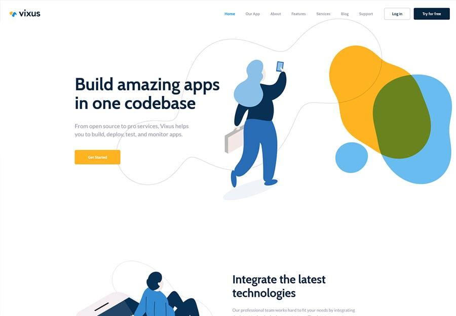 Vixus - Tema WordPress para Startup e Aplicativos
