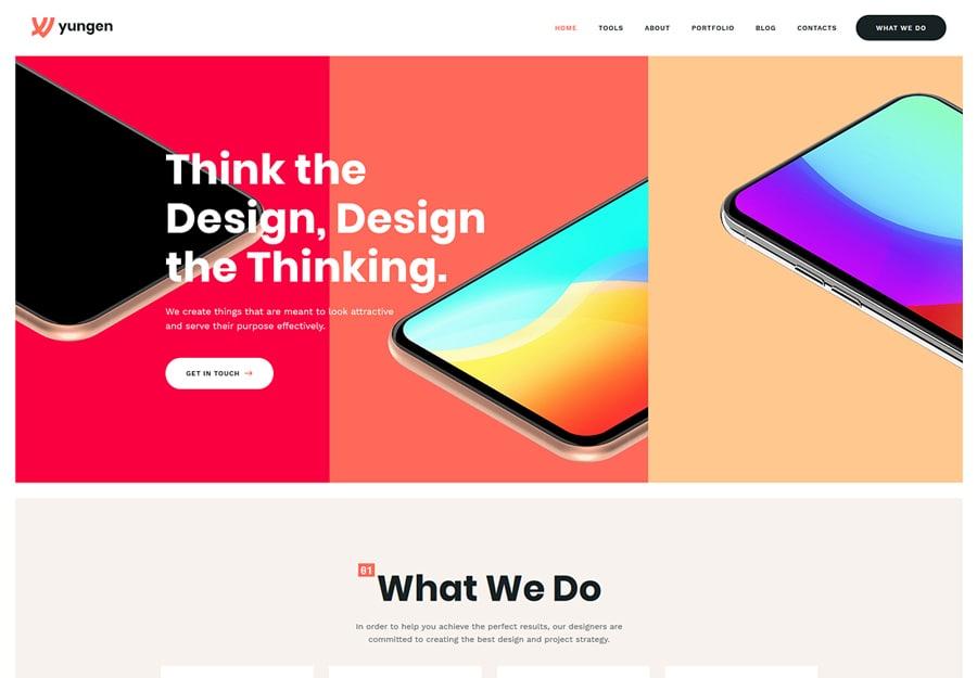 Yungen - Tema WordPress Moderno para Agência de Negócios