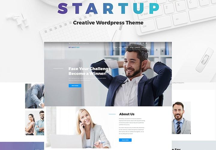 Startup - Tema WordPress One Page para Empresas e Negócios