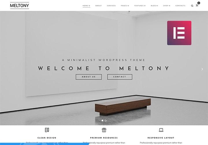 Meltony - Tema WordPress Minimalista para Casamento