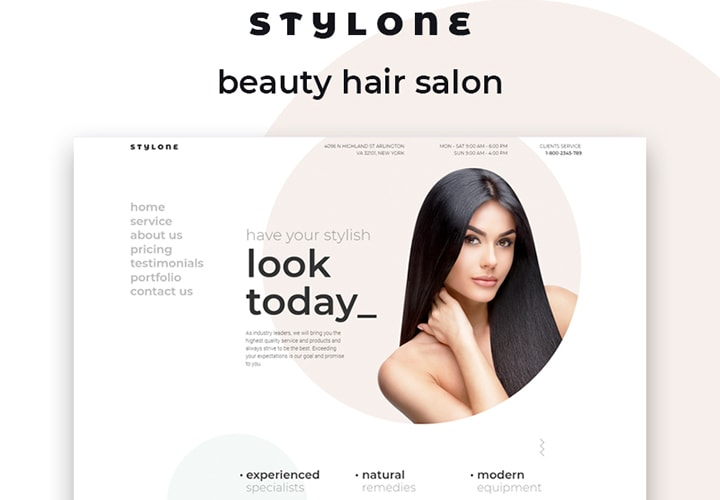 Stylone - Tema WordPress One Page para Salão de Beleza