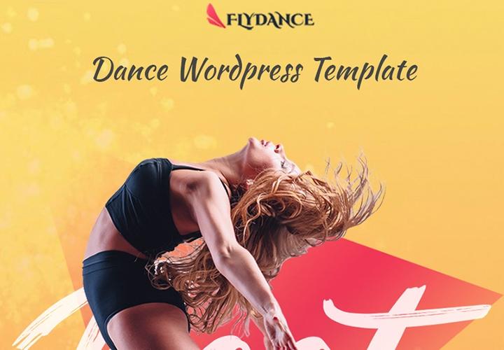 Flydance - Tema WordPress One Page para Aula de Danças