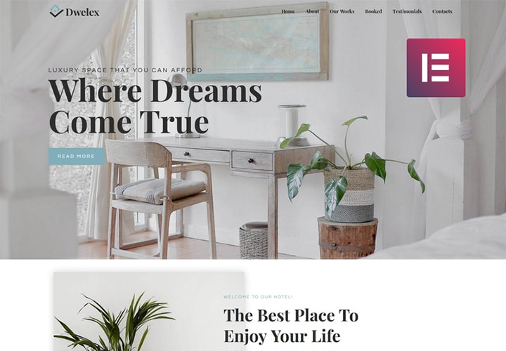 Dwelex - Tema WordPress One Page para Imobiliária