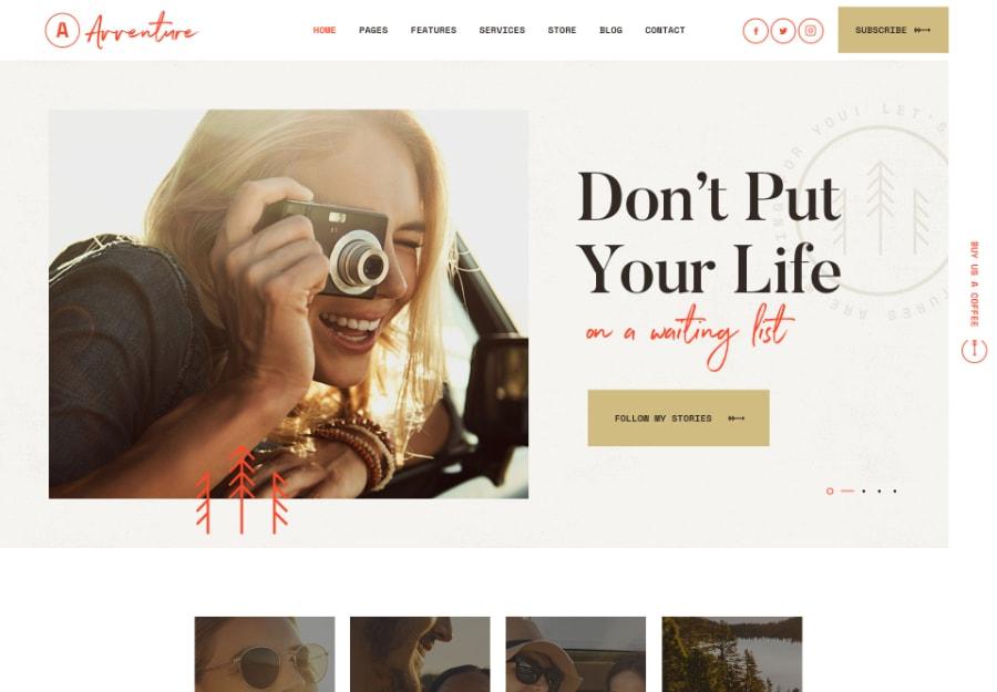 Avventure - Tema WordPress para Blog de Viagens e Estilo de Vida