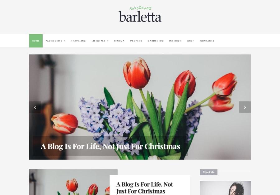 Barletta - Tema WordPress para Blog de Viagem e Projetos Pessoais