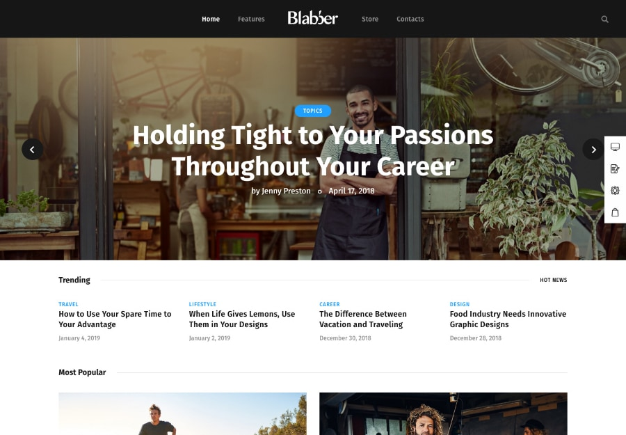 Blabber - Tema WordPress para Blogs e Revistas Multipropósito