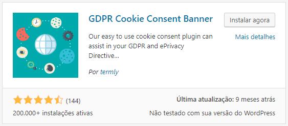 GDPR Cookie Consent Banner Plugin WordPress