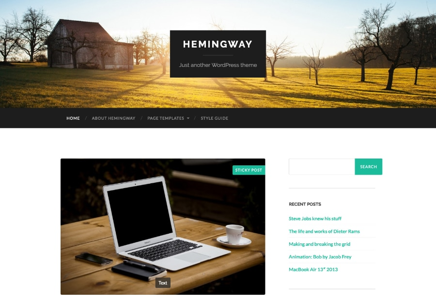 Hemingway - Tema WordPress para Blogs, Jornais e Revistas