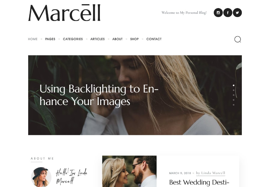Marcell | Tema WordPress para Blog Pessoal e Revistas