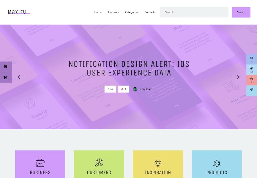 Maxify |Tema WordPress para Blogs de Empresas e Startups