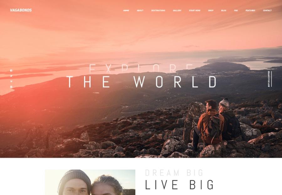 Vagabonds | Tema WordPress de Viagens Pessoais e Estilo de Vida