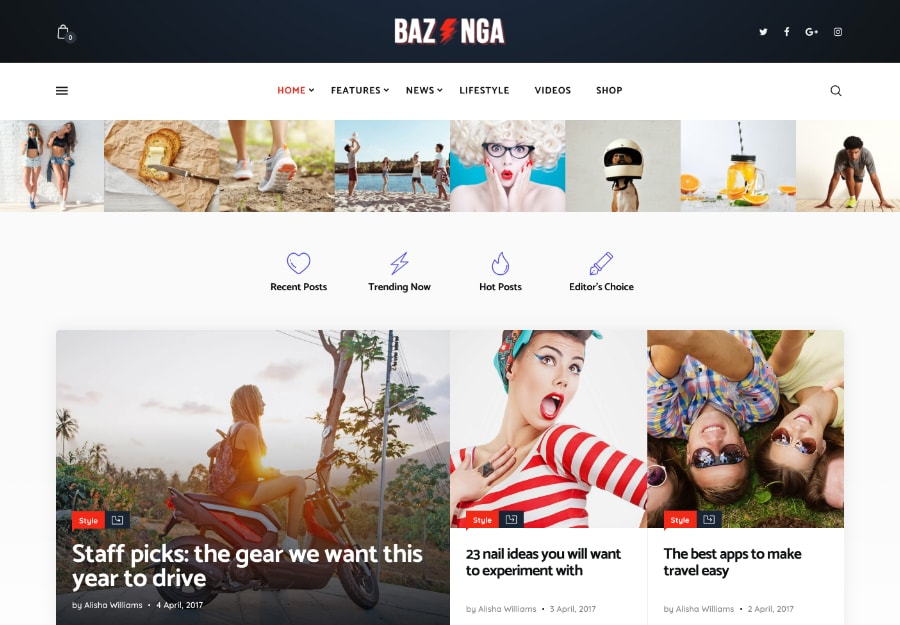 Bazinga | Tema WordPress para Blogs e Revistas Modernos