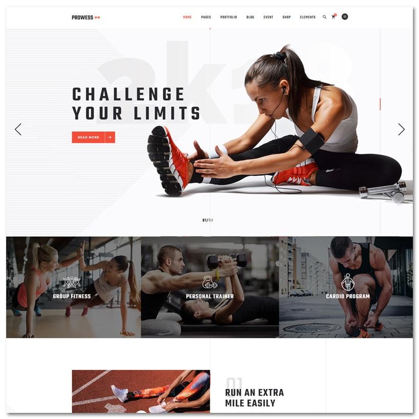 Prowess - Tema WordPress para Acadêmia e Esportes