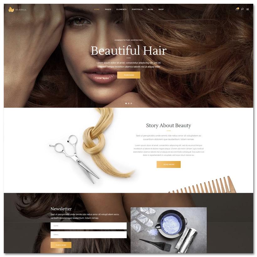Kendall - Tema WordPress para Spa, Salão de beleza e Cabeleireiro
