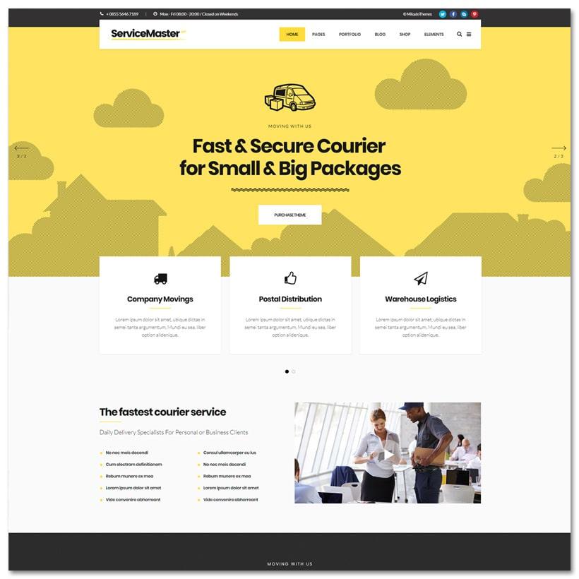 Service Master - Tema WordPress Multipropósito para Negócios