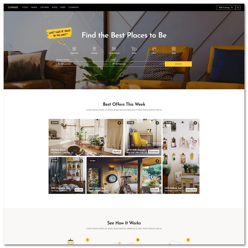 Zuhaus - Tema WordPress para Imobiliária e Corretor