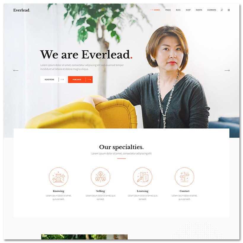 Everlead - Tema WordPress para Palestrantes e Coaching