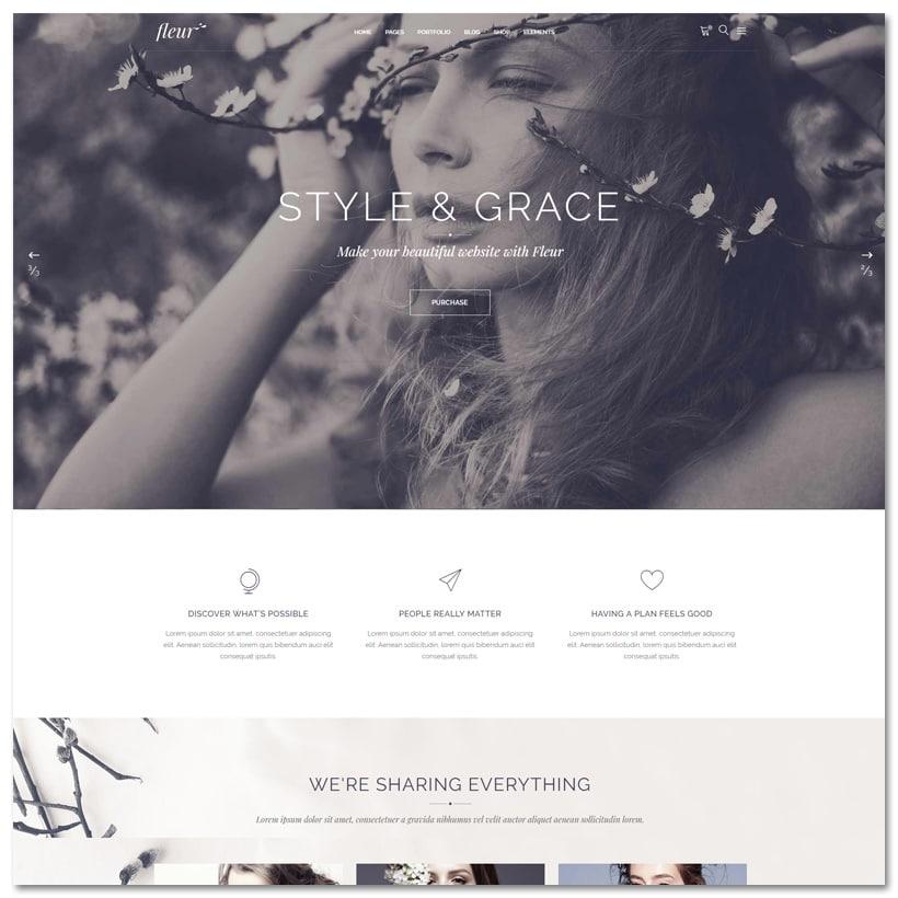 Fleur - Tema WordPress para Celebrações e Empresas de Casamento