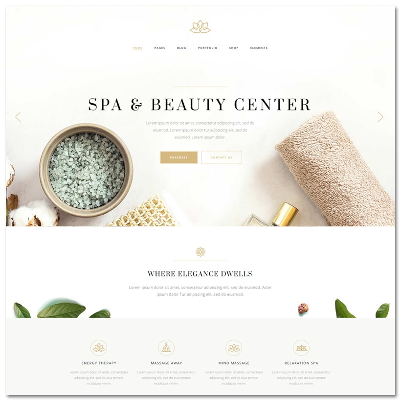 Aviana - Tema WordPress para Spa e Bem-estar