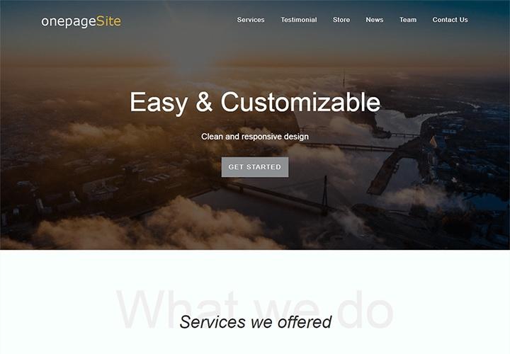 One Page Site - Tema WordPress One Page para Negócios