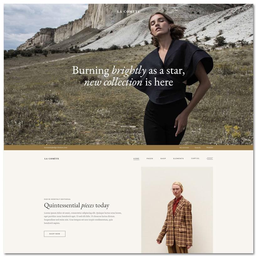 La Comète - Tema WordPress para Loja de Moda e Vestuário
