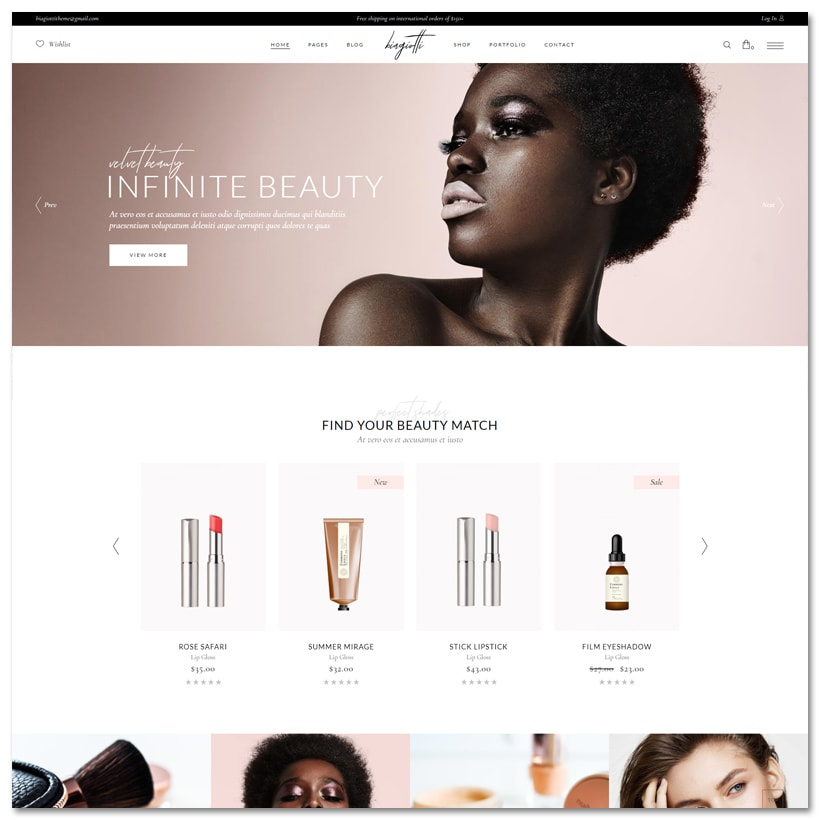 Biagiotti - Tema WordPress para Loja de Beleza e Cosméticos