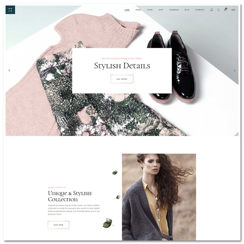Eola - Tema WordPress Elegante e Moderno para Loja Virtual