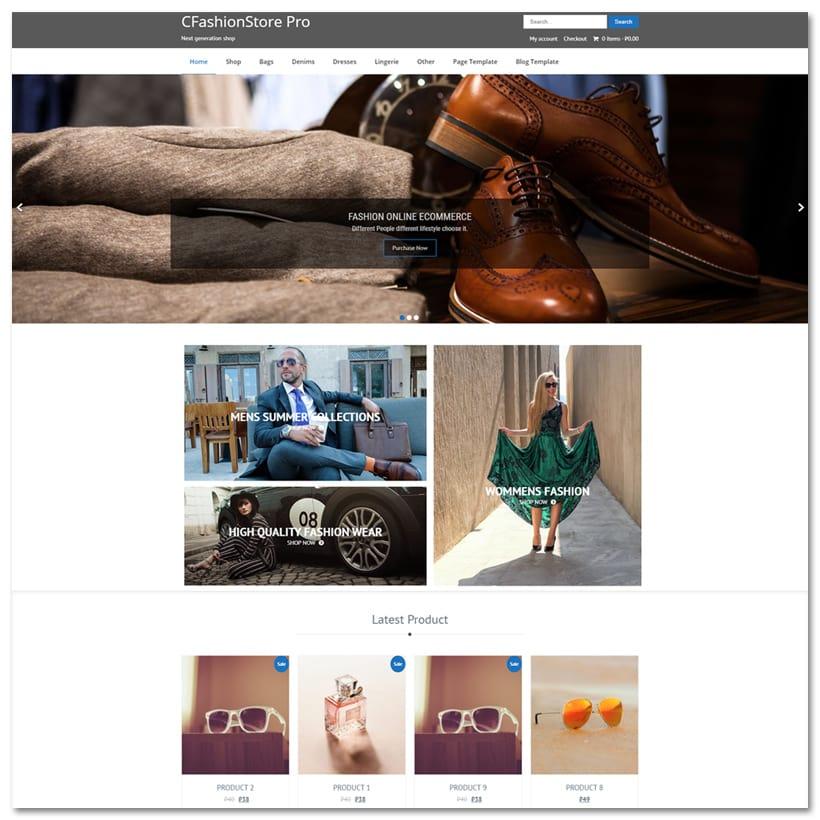 CFashionStore - Tema WordPress para Lojas de Moda
