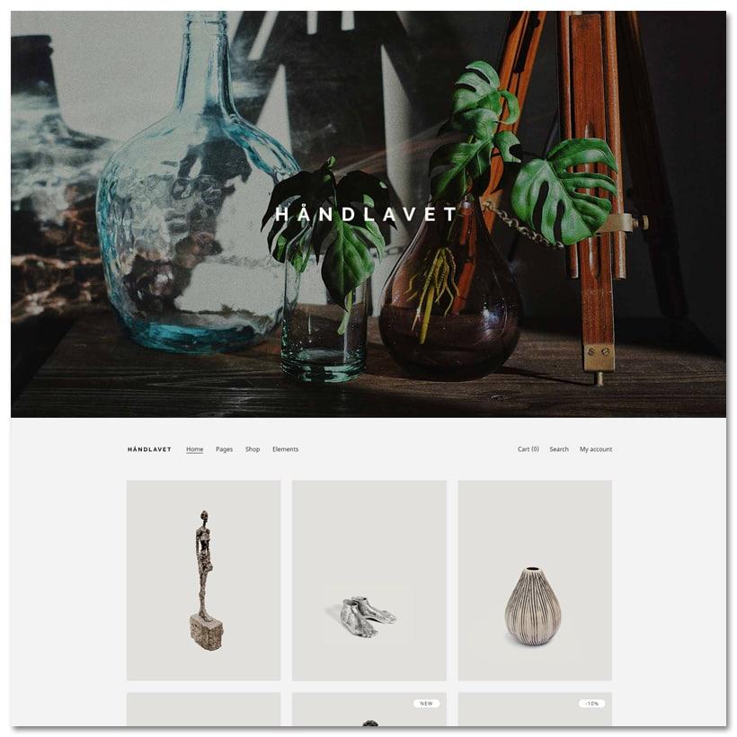 Handlavet - Tema WordPress para Loja de Arte e Decoração de Casa