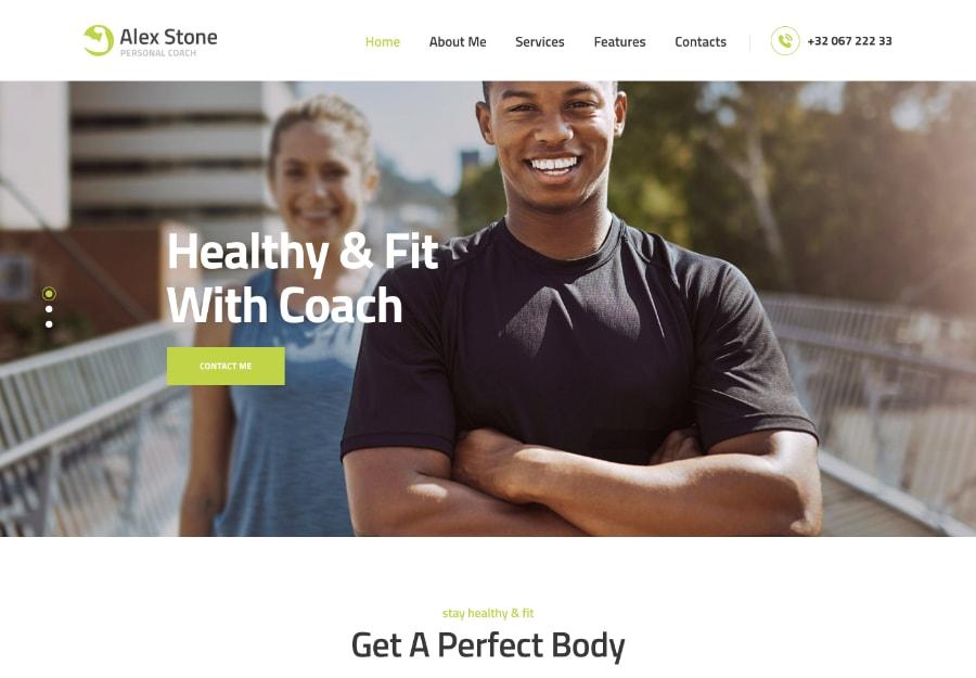 Alex Stone - Trainador Pessoal de Acadêmia