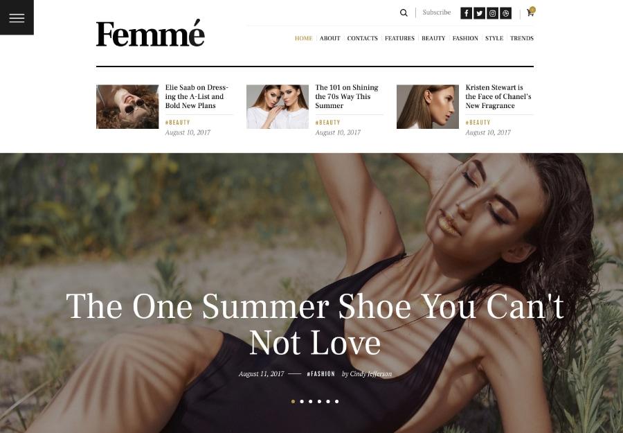 Femme - Blog de Revista Estilo de Vida e Tendências de Moda
